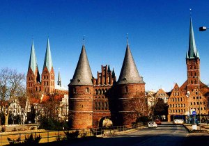 THE FAMOUS Holstentor Lübeck in northern Germany near the Baltic Sea. It once formed the gate to the city.