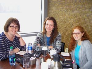 My rheum-mates Angela Lundberg (Inflamed: Living with Rheumatoid Arthritis), Britt Johnson Hurt Blogger), and Leslie Rott (Getting Closer to Myself) joined me in the Vu Cafe this afternoon! Laughter ensued.