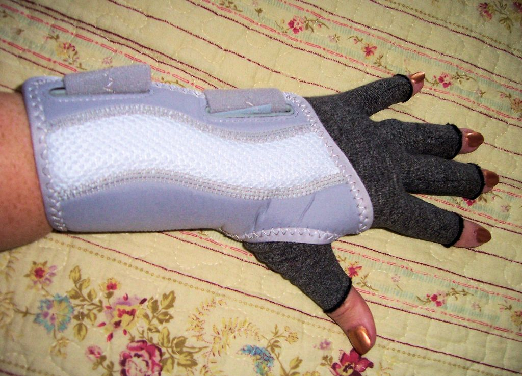 I WEAR MY Wellgate for Women PerfectFit Wrist Support, Left Hand, with my Imak Compression Glove. I have a brace and glove for the right hand, as well.