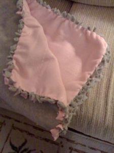 fleece tied blanket