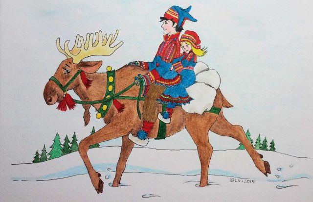 Moose & Sami Dad & Daughter