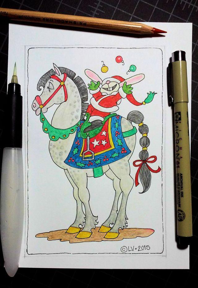 Xmas Horse & Bun