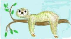 Sloth-Fingerpainted